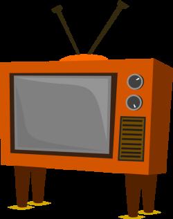 clipartist.net » Clip Art » funky old tv black white line art SVG