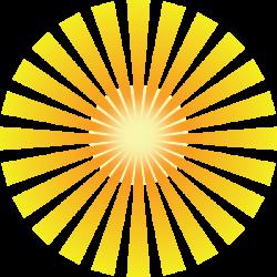 Golden Solar Rays Clip Art at Clker.com - vector clip art online ...