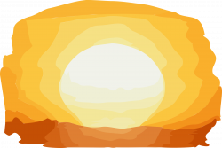 Clipart - Sunset