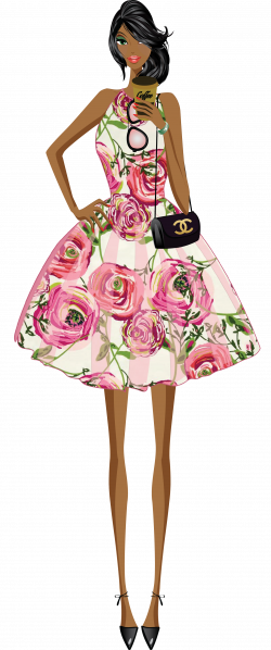 fashion girl clip art & digital Paper, shoes , lipstick,Graphic ...