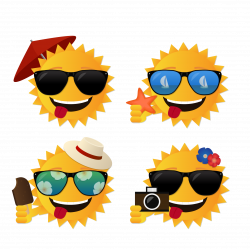 Summer vector sun 1656*1655 transprent Png Free Download - Emoticon ...
