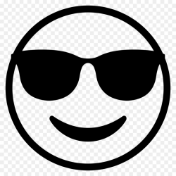 Emoji Black And White clipart - Emoticon, Emoji, Sunglasses ...