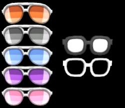 3DS - Pokémon Sun / Moon - Glasses (Male) - The Models Resource
