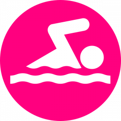 Pink Swimmer Clip Art at Clker.com - vector clip art online, royalty ...