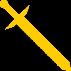 Gold Sword Clip Art at Clker.com - vector clip art online, royalty ...