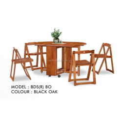 Butterfly Wooden Foldable Dining Table And 4 Folding Chairs Dining ...