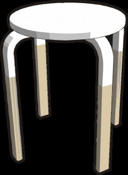 Clipart - Ikea stuff - Frosta stool, half white