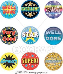 Vector Art - Teacher stickers. EPS clipart gg76331705 - GoGraph