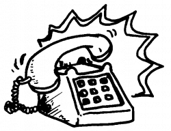 28+ Collection of Ringing Phone Clipart Black And White | High ...