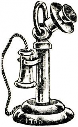 Image result for drawing of old fashioned telephone ...