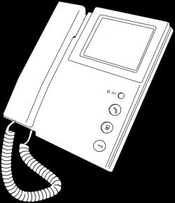 Outline Voip Telephone Clip Art at Clker.com - vector clip art ...