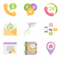 Phone book Icons - 380 free vector icons