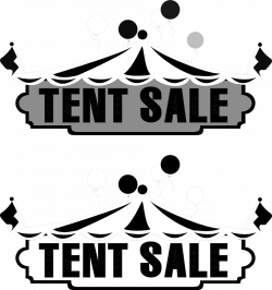 Sale | Free Stock Photo | Illustration of tents and tent sale texts ...
