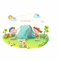Tent Camping Cartoon - Cartoon children 887*943 transprent Png Free ...