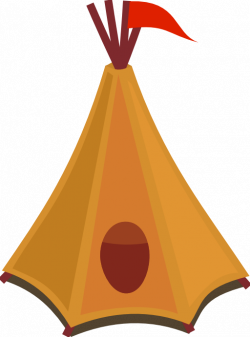 Cartoon Tipi Tent With Red Flag Clipart | i2Clipart - Royalty Free ...