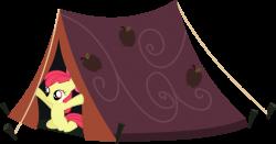 Apple Bloom In A Tent by IAmADinosaurRARRR on DeviantArt