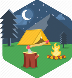 'Camping and Adventure-HEXAGONAL' by popcornarts