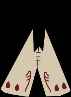 Clipart - tipi / teepee