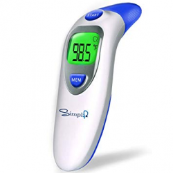 Baby Forehead Thermometer with Ear Function, Digital Medical Infrared Body  Temporal Basal Thermometer for Fever, for Kids, Children, Adults, Infants,  ...
