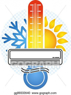 Vector Illustration - Room temperature control symbol. Stock ...