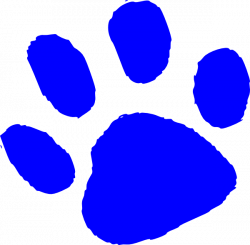 Blue Tiger Paw Print Clip Art free image