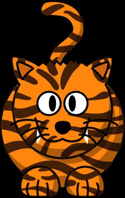 Public Domain Clip Art Image | Illustration of a cartoon tiger | ID ...