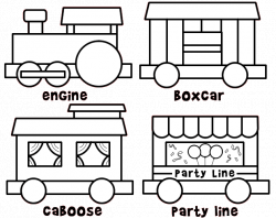 Color and build a train. Cute site too! | Free Printables ...
