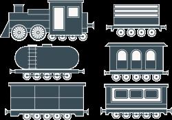 Train Passenger car Steam locomotive - Cartoon train parts 5287*3720 ...