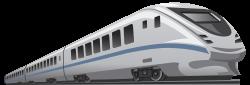 Train Rail transport High-speed rail Clip art - The blue stripe is ...