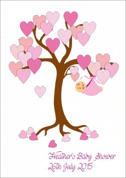 Tree clipart baby shower - Pencil and in color tree clipart baby shower