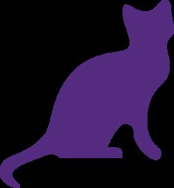 Purple Cat Clip Art at Clker.com - vector clip art online, royalty ...