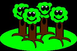 Clipart - Happy Trees Smile