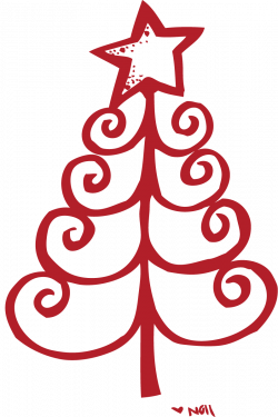 travel christmas tree clipart outline - Clipground