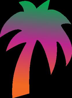 Clipart - Rainbow palm tree