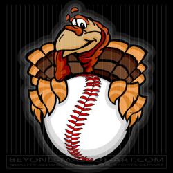 Thanksgiving Baseball Cartoon