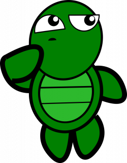 OnlineLabels Clip Art - Turtle-Thinking