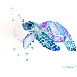 watercolor turtle clipart - Google Search | Bell in 2019 ...