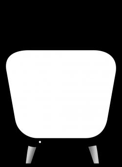 clipartist.net » Clip Art » tv black white line art SVG