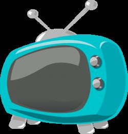 Blue Retro Television Clip Art at Clker.com - vector clip art online ...