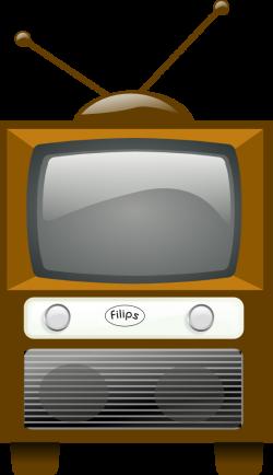 Vintage Television Set Clipart