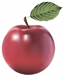 Large Red Painted Apple PNG Clipart | FRUIT AND VEGETABLES CLIP ART ...