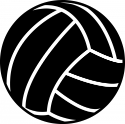 Black clipart volleyball - Pencil and in color black clipart volleyball