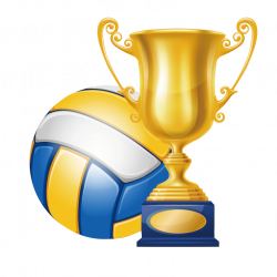 Volleyball Trophy Champion Clip art - Volleyball championship trophy ...