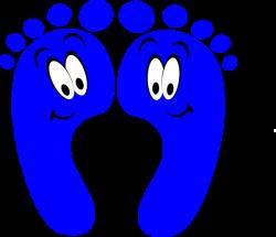 Blue Happy Feet Clip Art at Clker.com - vector clip art online ...