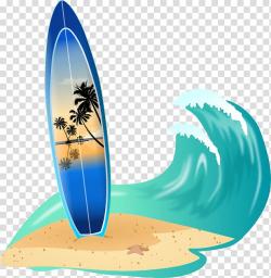 Surfboard Big wave surfing , Beach Waves transparent ...