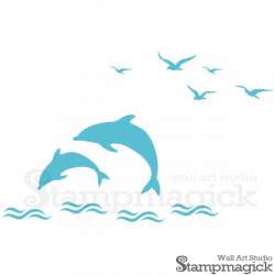 Dolphins Wall Decal for Baby Nursery, K216 – StampMagick Wall Decals