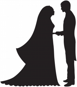 Bride And Groom Silhouette Wedding Clipart at GetDrawings.com | Free ...