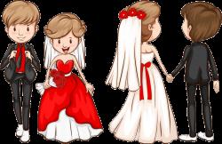 Wedding invitation Marriage Clip art - Bride and groom 737*478 ...