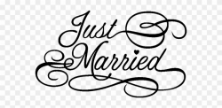 Justmarried Sticker - Wedding Love Png Text Clipart ...