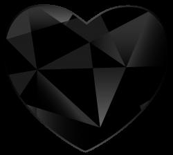 Black Gem Heart PNG Clipart - Best WEB Clipart